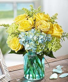 Summer Mason Jar floral arrangement
