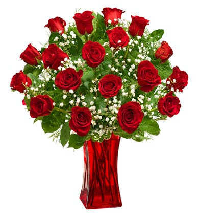 Blooming Love - Premium Red Roses - Same-day Delivery Boston, MA