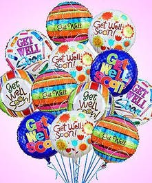 Lift their spirits with fun-filled get well balloons!