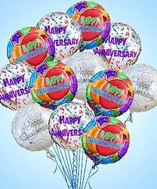 Festive anniversary balloons!