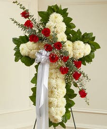 This beautiful floral tribute shows your faith, hope and love during this difficult time