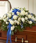 Half Casket Cover - Blue & White