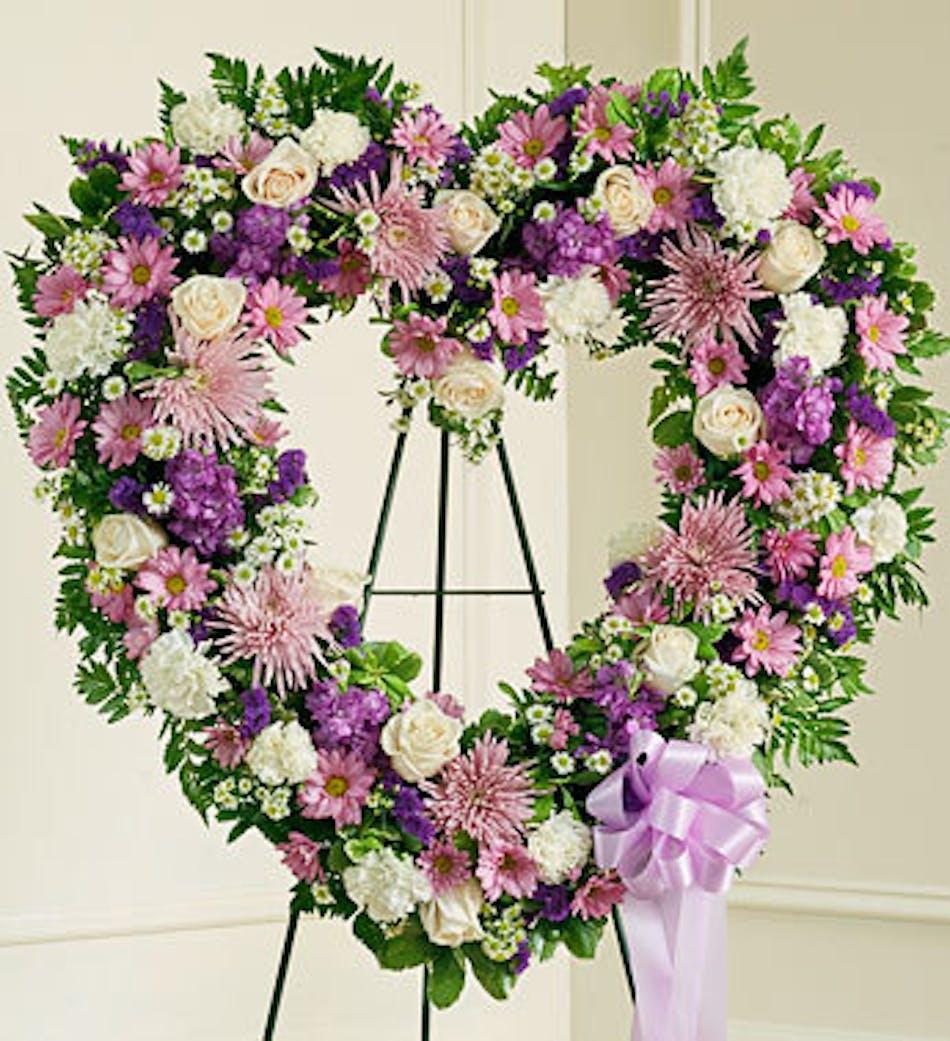 Lavender open heart in boston ma central square florist izmirmasajfo