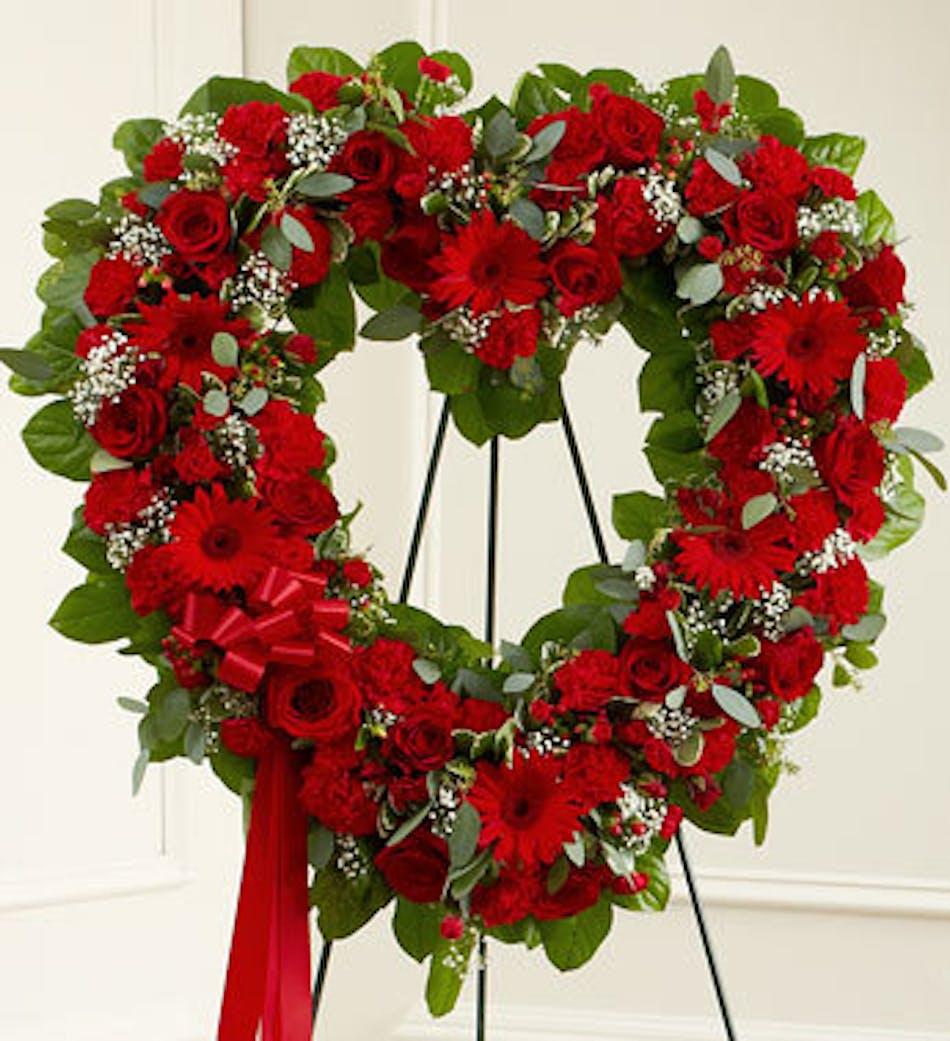 Red Open Heart In Boston Ma Central Square Florist
