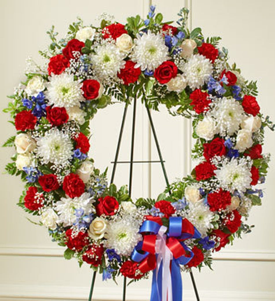 Red, White & Blue Standing Wreath in Boston, MA