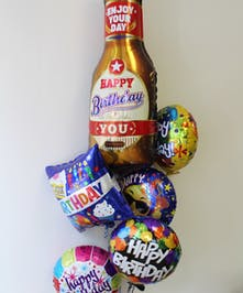 Happy Beer Birthday Balloon Bouquet in Boston, MA