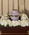 Elegant White Square Urn Wreath