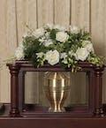 Elegant White Urn Cover