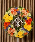 Glowing Tribute Wreath