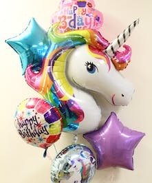 Unicorn Birthday Balloon Bouquet in Boston, MA