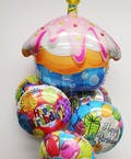 Sweet Cupcake Birthday Balloon Bouquet