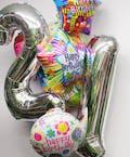 Jumbo 21st Birthday Balloon Bouquet