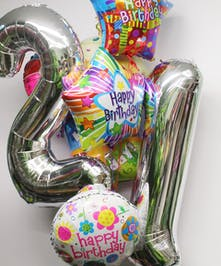 Jumbo 21st Birthday Balloon Bouquet