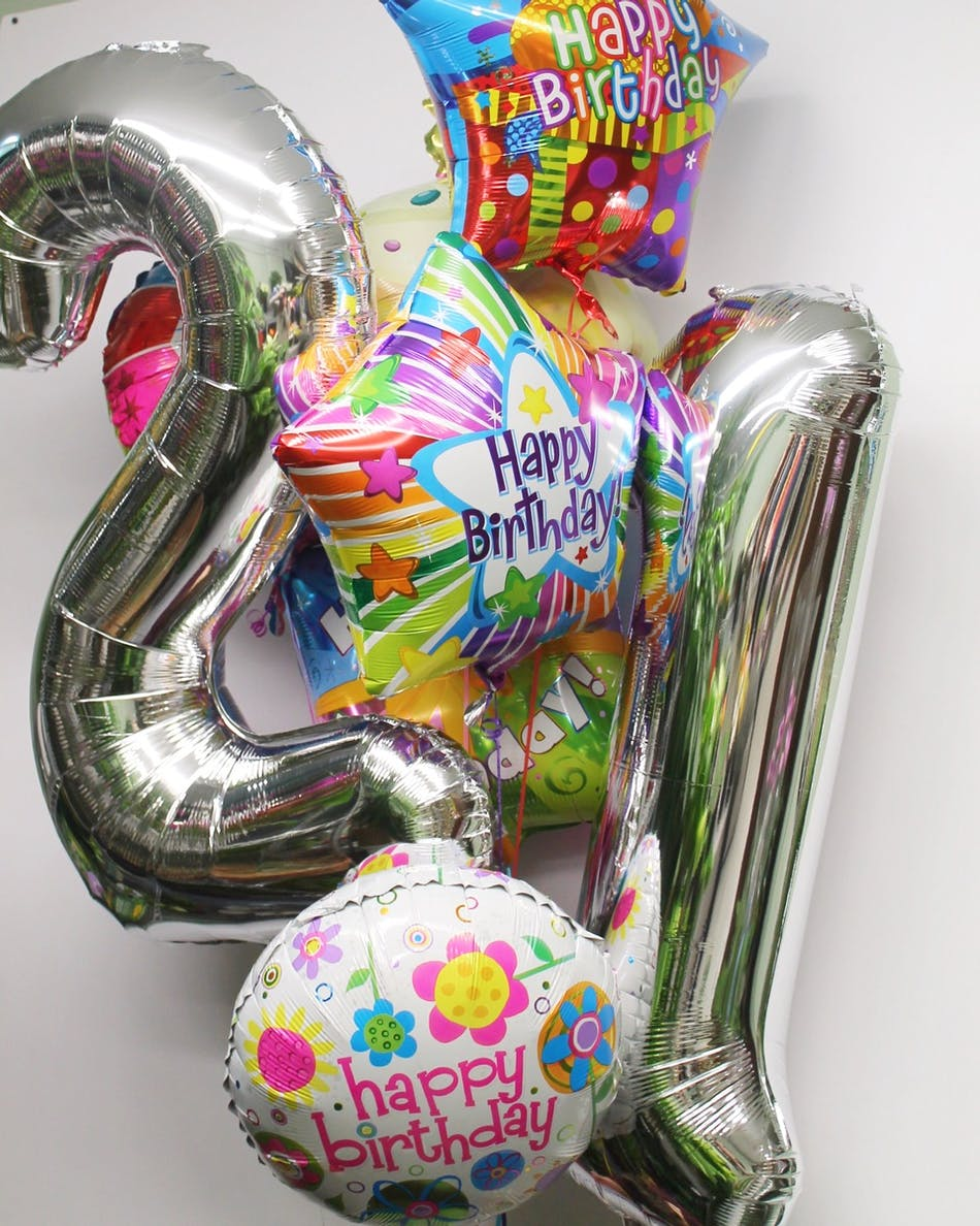 Jumbo 21st Birthday Balloon Bouquet In Boston Ma Central Square