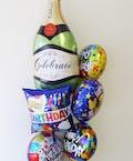 Champagne Bottle Birthday Mylar Bouquet
