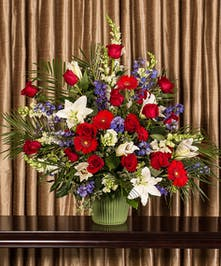 Patriotic Funeral Basket, Boston, MA