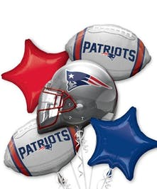 New England Patriots Balloon Bouquet in Boston, MA | Central Square Florist