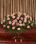 Pink Carnation Casket Cover