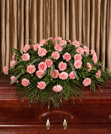 Pink Carnation Casket Cover, Boston, MA
