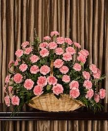 Pink Carnation Fireside Basket, Boston, MA