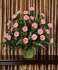 Pink Carnation Funeral Basket