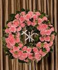 Pink Carnation Wreath
