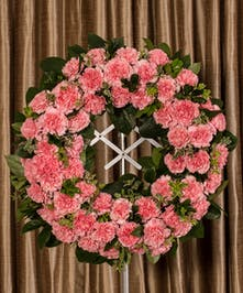 Pink Carnation Wreath, Boston, MA
