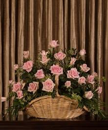 Pink Rose Fireside Basket, Boston, MA
