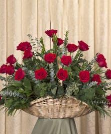 Red Rose Fireside Basket, Boston, MA