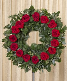 Red Rose Wreath, Boston, MA