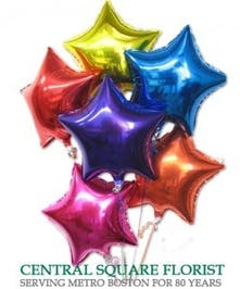 Star Shaped Mylar Balloons in Boston, MA