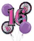 Sweet Sixteen Balloon Bouquet