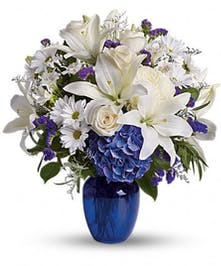Beautiful in Blue - Boston, MA Flower Delivery