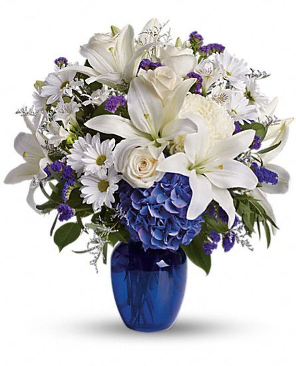 Central Square Florist Beautiful In Blue Boston Ma Flower Delivery