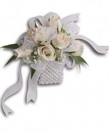 Spray Rose Pearl Prom Corsage