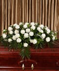 White Carnation Casket Cover