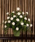 White Carnation Funeral Basket