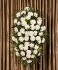 White Carnation Standing Spray