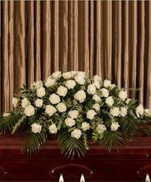 White Rose Casket Cover, Boston, MA