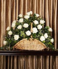 White Rose Fireside Basket, Boston, MA