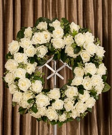 White Rose Wreath, Boston, MA