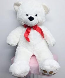 This great big teddy bear will make a giant impression on the one you love!