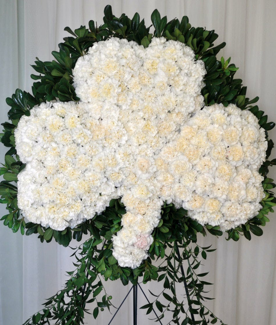 Irish blessings shamrock spray in boston ma central square florist izmirmasajfo