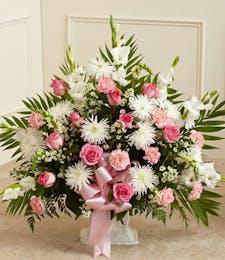 Pink & White Floor Basket