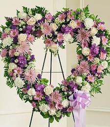 Lavender Open Heart