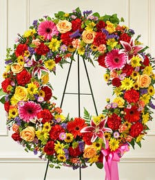 Bright Standing Wreath