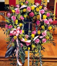 Lovely Rose Standing Wreath