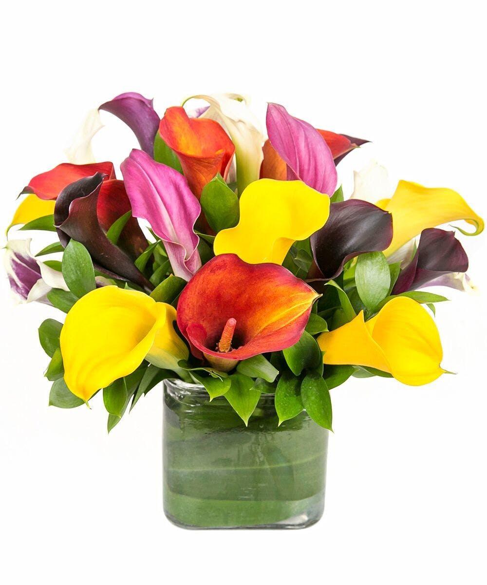 Calla Lily Vase In Boston Ma Central Square Florist