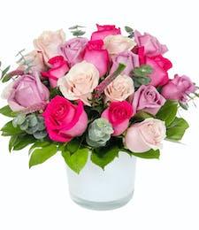 Modern Pink & Purple Roses