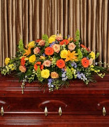 Glowing Tribute Casket Cover